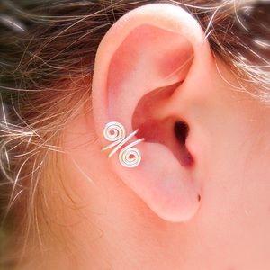 925 Sterling silver spiral ear cuff